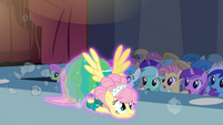 Fluttershy skidding across the floor S1E20