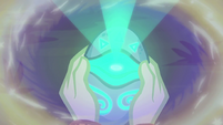 Memory Stone glowing bright turquoise EGFF
