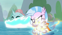 Ocellus and Silverstream transforming S8E9