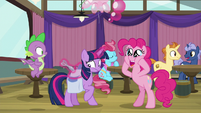 "Pinkie Pie suggests ""Sparkle Pie!"" S9E16"
