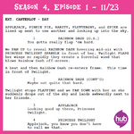 Princess Twilight Sparkle - Part 1 script excerpt