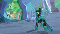 "Queen Chrysalis ""on this side of the cavern"" S9E25"