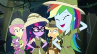 Rainbow Dash laughing embarrassed EGS1