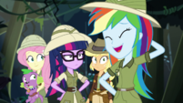 Rainbow Dash laughing embarrassed EGS1