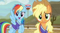 "Rainbow Dash out of breath ""no, thanks"" S6E18"