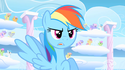 Rainbow Dash un-colored mouth error S01E16