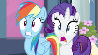 Rarity & Rainbow Dash can't believe S2E25
