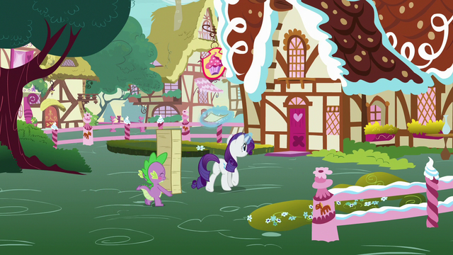File:Rarity and Spike approach Sugarcube Corner S7E9.png