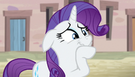 Rarity hides her disgust S5E1