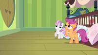 Scootaloo and Sweetie thinking S4E17