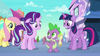 Spike --all we have to do is follow it!-- S6E1