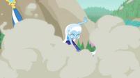 Trixie sets off smoke bomb on the beach EGFF