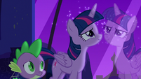 Twilight looks through the window feeling inspired S5E12
