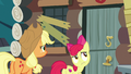 Apple Bloom hears commotion inside the house S7E13.png