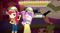 Apple Bloom holding the tickets again SS11