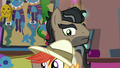Caballeron looks at colt dressed as Daring Do S6E13.png
