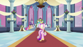Cadance walking on red carpet S2E25.png