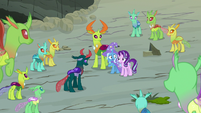 Every changeling looking at Starlight and Trixie S7E17