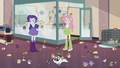 Fluttershy and Rarity surrounded by hamster chaos EG2.png