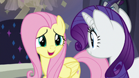 Fluttershy nervously agreeing to try S8E4