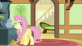 Fluttershy sees her couch moving down the hall S6E11.png