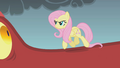 Fluttershy walking up to the dragon S1E07.png