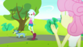 Fluttershy waving to Lyra Heartstrings SS14.png