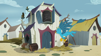 Gallus flies to Grampa Gruff's house S9E3