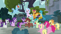 Mane Six gather around their students S8E2