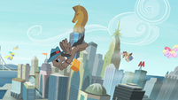 Pegasi in Manehattan flying around S4E8