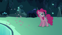 Pinkie Pie seeing her double sprint away S3E03