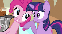 Pinkie with Twilight S2E24