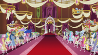 Ponies at Cranky Doodle and Matilda's wedding ceremony S5E9
