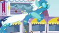 Ponies watching the Wonderbolts fly S5E15.png