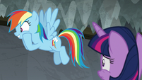 "Rainbow ""found out Celestia was in it!"" S8E7"