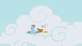 Rainbow Dash and Gilda having fun S1E5.png