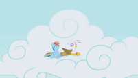 Rainbow Dash and Gilda having fun S1E5