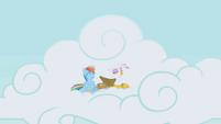 Rainbow Dash and Gilda having fun S1E5