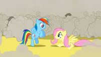 Rainbow Dash smiles at Fluttershy S2E26
