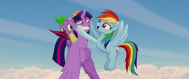 Rainbow putting a smile on Twilight's face MLPTM