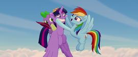 Rainbow putting a smile on Twilight's face MLPTM