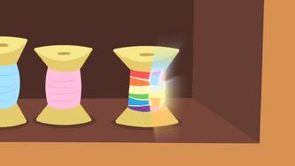 Spool of thread glowing S4E08