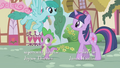 Sprinkle Medley flies past Twilight and Spike S1E06.png