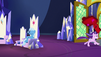 Starlight runs out of the throne room S7E2