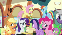 Twilight's friends looking nervous S9E26