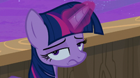 Twilight Sparkle rolling her eyes at Star Tracker S7E22