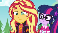 Twilight Sparkle worried about Sunset EGSBP