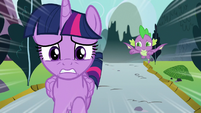 Twilight and Spike racing to Canterlot S9E1