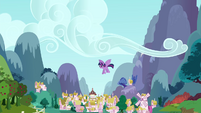 Twilight flies after Rainbow Dash S4E21