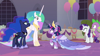 Twilight shocked by Celestia's announcement S9E26